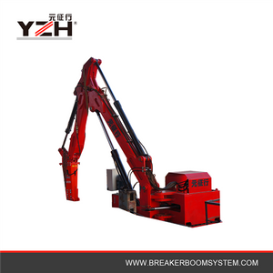 Hydraulic Rockbreaker Pedestal Boom System Suitable For Jaw Crusher